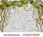 wall  branches liana  ivy....   Shutterstock .eps vector #1963674034