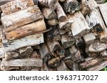 Pallet Of Old Firewood....