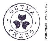 gunma  japan stamp postal.... | Shutterstock .eps vector #1963723417