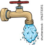 water pours from a cartoon... | Shutterstock .eps vector #196373351