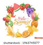 sweet fruit logo. 3d vector...   Shutterstock .eps vector #1963745077