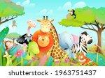 wild exotic baby animals in...   Shutterstock .eps vector #1963751437