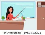 happy teacher's day. the...   Shutterstock .eps vector #1963762321