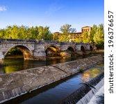 San Marcos Bridge on the River Bernesga, Leon (Castilla y Leon), Spain
