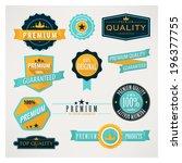 flat labels. | Shutterstock .eps vector #196377755