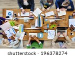 group of multiethnic busy... | Shutterstock . vector #196378274