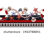 border with starfishes  anchors ... | Shutterstock .eps vector #1963788841