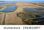 Aerial View Of Wetlands On...