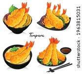 variaties shrimp tempura recipe ... | Shutterstock .eps vector #1963815031