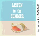 listen to the summer | Shutterstock .eps vector #196382681