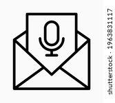 voice message icon. send voice...