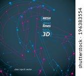 dimensional elegant mesh loop... | Shutterstock .eps vector #196383554