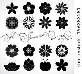 set of vector flowers for... | Shutterstock .eps vector #196383581