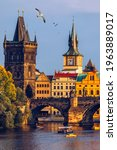 Small photo of Charles Bridge, Old Town and Old Town Tower of Charles Bridge, Prague, Czech Republic. Prague old town and iconic Charles bridge, Czech Republic. Charles Bridge (Karluv Most) and Old Town Tower.