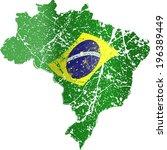 grunge brazil flag | Shutterstock .eps vector #196389449