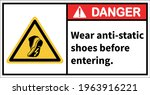 warning sign to use anti static ...   Shutterstock .eps vector #1963916221