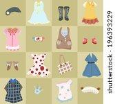girls clothes seamless pattern | Shutterstock .eps vector #196393229