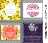 wedding invitation cards with... | Shutterstock . vector #196394945