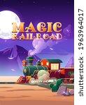 Magic Railroad Cartoon Poster....