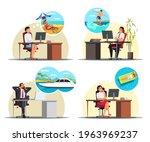office workers dream of...   Shutterstock .eps vector #1963969237