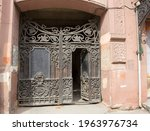 beautiful old gate on the...   Shutterstock . vector #1963976734