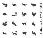 Bird And Animal Vector Icons...