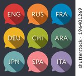 language icons | Shutterstock .eps vector #196401269