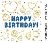happy birthday  birthday party... | Shutterstock .eps vector #1964015737