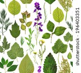 Vintage Herbarium Seamless...