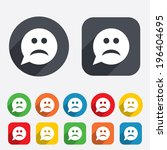 Sad Face Sign Icon. Sadness...
