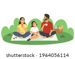 happy family on a picnic. a... | Shutterstock .eps vector #1964056114