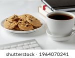 Cookies With Black Coffee At...