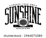 sunshine quoted slogan print...   Shutterstock .eps vector #1964071084