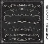set of vintage vector dividers... | Shutterstock .eps vector #196407581