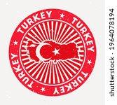 Turkey Round Stamp. Logo Of...