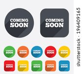 coming soon sign icon....   Shutterstock .eps vector #196409165