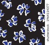 blue tropical floral botanical... | Shutterstock .eps vector #1964114377