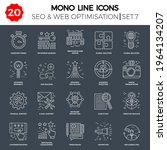 thin line icons set of search... | Shutterstock .eps vector #1964134207