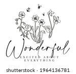 wonderful slogan print with... | Shutterstock .eps vector #1964136781
