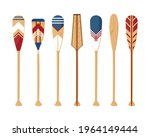oars set isolated on a white... | Shutterstock .eps vector #1964149444