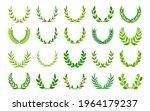 green foliate vintage wreaths... | Shutterstock .eps vector #1964179237