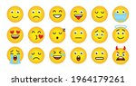 funny emoji face of yellow... | Shutterstock .eps vector #1964179261