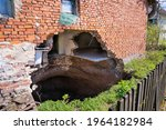 A Sinkhole At The Foot Of The...