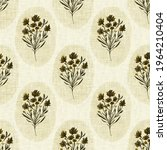 seamless french taupe floral... | Shutterstock . vector #1964210404