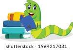 bookworm cartoon vector art and ... | Shutterstock .eps vector #1964217031