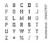 stencil black spray vector font | Shutterstock .eps vector #196427957