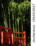 Red Bridge And Bamboo  Japanese ...