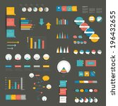 set of flat  infographics...