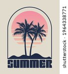Summer Time Emblem Or Logo Or...