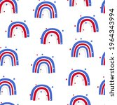 america flag colours. rainbow....   Shutterstock .eps vector #1964343994